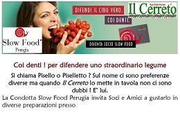 Cena Slow Food<br>22 Giugno a Bettona