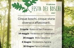 Festa dei Boschi 2017<br>9 Aprile, 14 e 28 Maggio, 4 e 18 Giugno