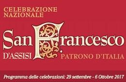 Celebrazioni per San Francesco d'Assisi<br>29 Settembre/6 Ottobre 2017