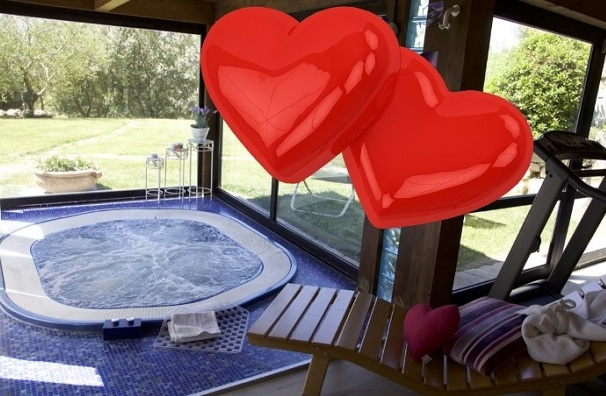 St Valentine in Countryhouse with Spa